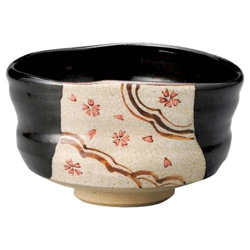 87207-450 黒織部沓型茶盌(木)景陶作|業務用食器カタログ陶里30号