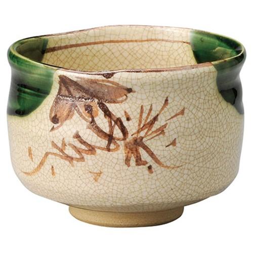 87214-120 織部抹茶碗(化)|業務用食器カタログ陶里30号