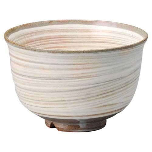 87215-120 割高台刷毛目抹茶碗(化)|業務用食器カタログ陶里30号