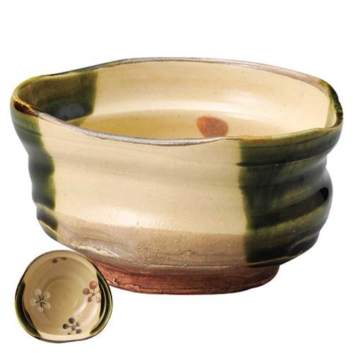 87223-330 織部内梅抹茶碗(貼箱)|業務用食器カタログ陶里30号