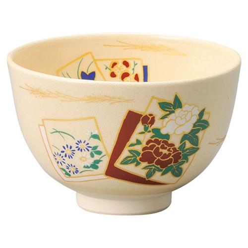 87228-120 仁清色紙抹茶碗(化)|業務用食器カタログ陶里30号