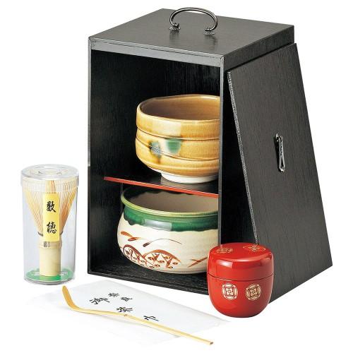 87404-450 黒塗茶の湯揃|業務用食器カタログ陶里30号