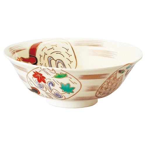 87413-450 仁清団扇平茶盌(化)|業務用食器カタログ陶里30号