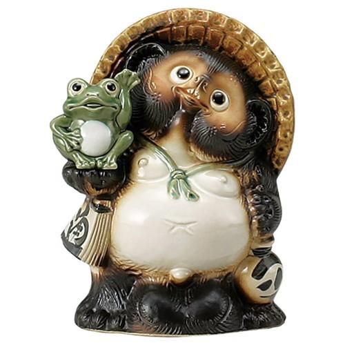 87525-430 10号招き蛙付狸|業務用食器カタログ陶里30号