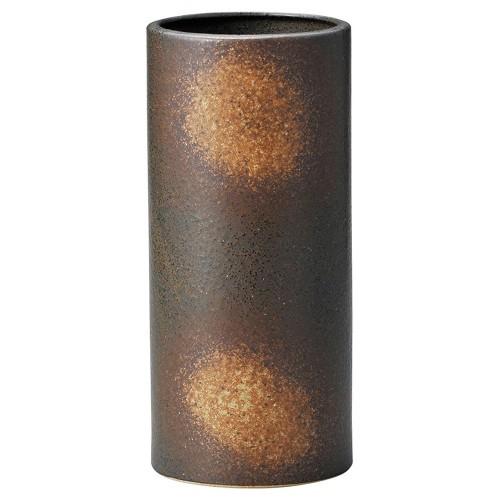 87601-270 黒備前筒花瓶大(箱入) 業務用食器カタログ陶里30号