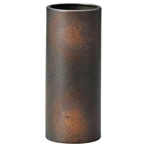 87604-270 黒備前筒花瓶小(箱入) 業務用食器カタログ陶里30号