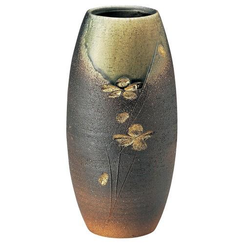 87606-430 ビードロ金彩長花入 業務用食器カタログ陶里30号