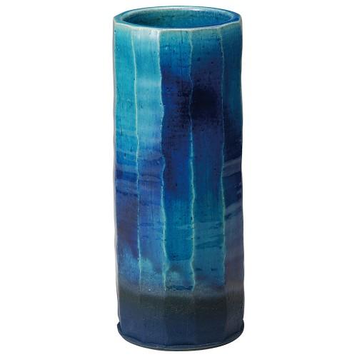 87610-430 青ガラス面取花入 業務用食器カタログ陶里30号