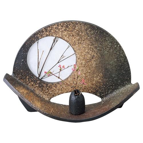 87703-430 扇形花器 業務用食器カタログ陶里30号