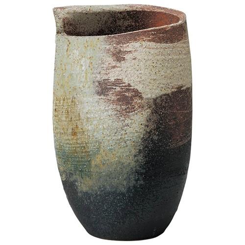 87707-430 古陶刷毛目花入 業務用食器カタログ陶里30号