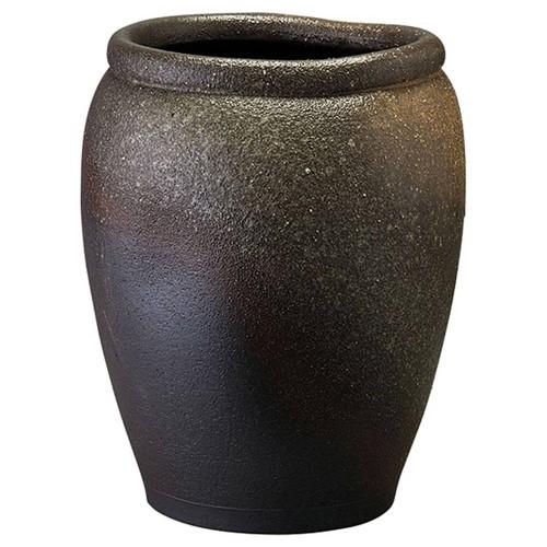 87803-430 灰窯変壺型変形傘立 業務用食器カタログ陶里30号
