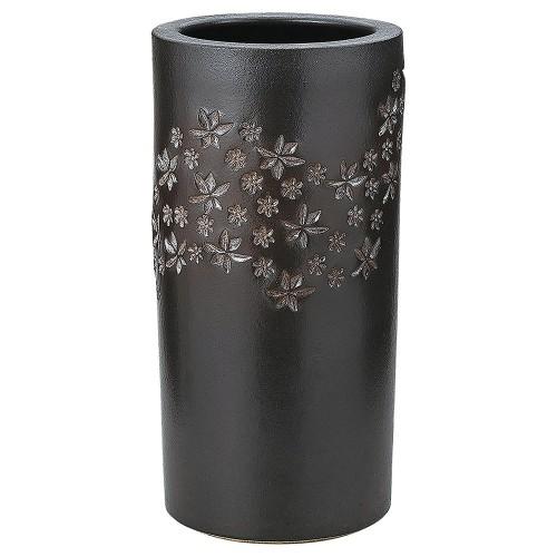 87818-430 黒釉小花傘立 業務用食器カタログ陶里30号