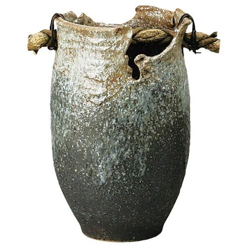 87903-430 白窯変手桶傘立 業務用食器カタログ陶里30号