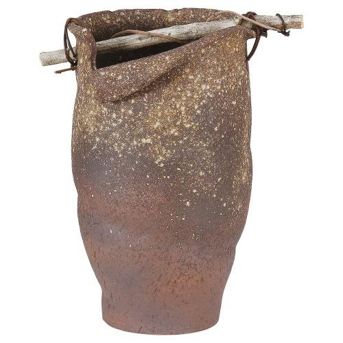 87904-430 古信楽手桶型傘立 業務用食器カタログ陶里30号