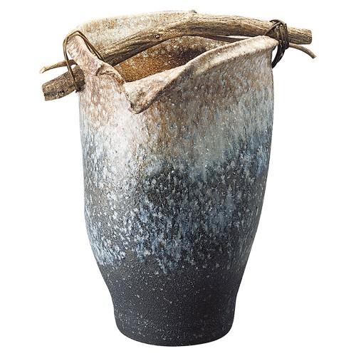 87905-430 白窯変手桶傘立 業務用食器カタログ陶里30号
