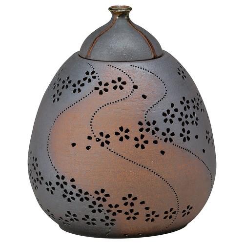 88201-210 灯り花入 雫の桜(大) 業務用食器カタログ陶里30号