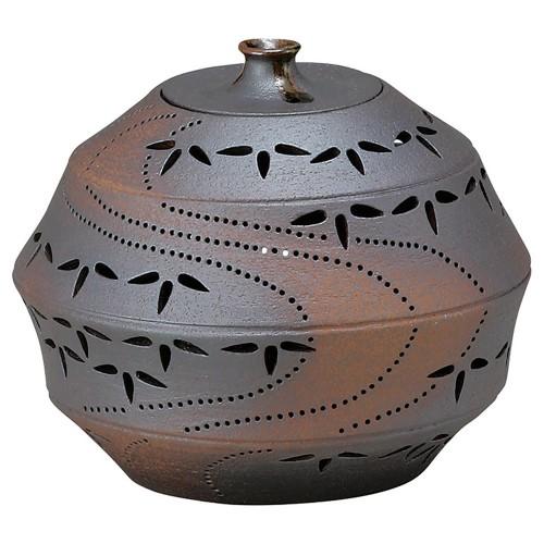 88206-210 灯り花入 丸の竹節笹(中) 業務用食器カタログ陶里30号