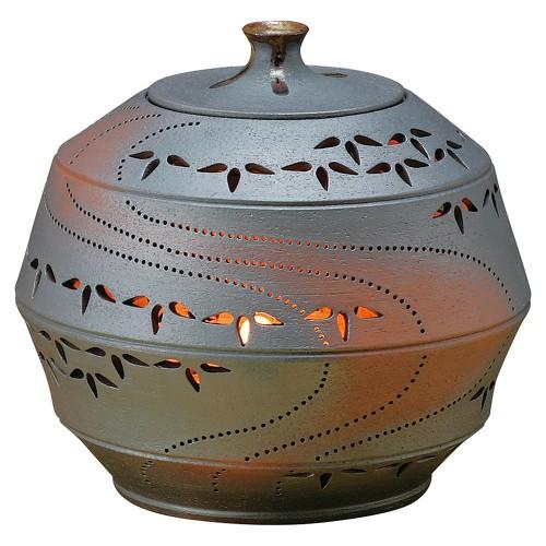 88208-210 灯り花入 丸の竹節笹(大) 業務用食器カタログ陶里30号