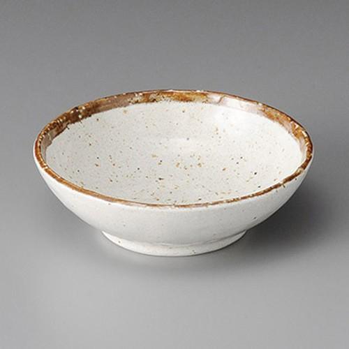 11304-230 粉引ライン手びねり5.0ボール|業務用食器カタログ陶里30号