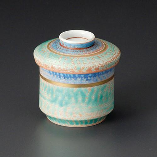 20204-180 ヌリ分三彩竹型むし碗 業務用食器カタログ陶里30号