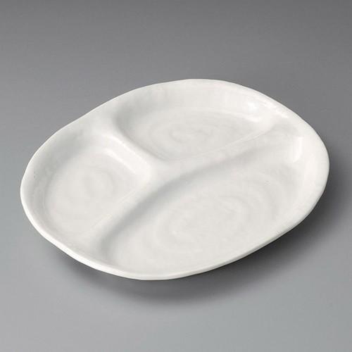 26501-180 白釉三ツ切10吋仕切皿|業務用食器カタログ陶里30号