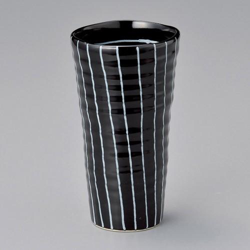 40518-280 白黒十草焼酎カップ(黒) 業務用食器カタログ陶里30号