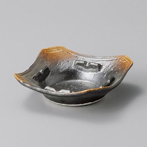 43814-410 焼締角灰皿大|業務用食器カタログ陶里30号