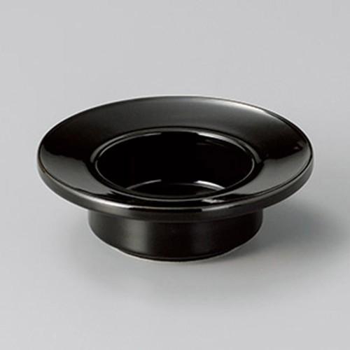 43819-370 黒帽子型4.5灰皿|業務用食器カタログ陶里30号