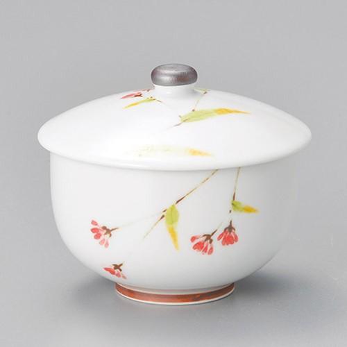 45603-050 うららか(赤)蓋付千茶|業務用食器カタログ陶里30号