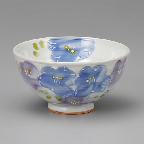 51420-150 花束茶碗ブルー|業務用食器カタログ陶里30号