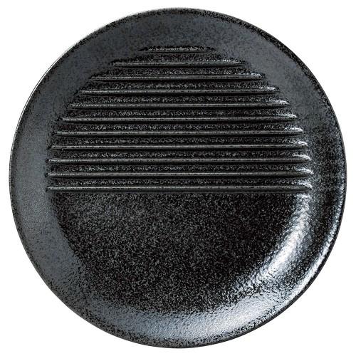 70009-170 agemonoプレート26cm 黒|業務用食器カタログ陶里30号