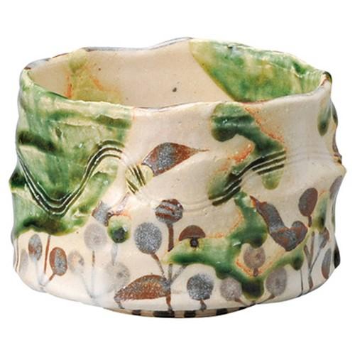 87220-080 織部華文一口抹茶碗|業務用食器カタログ陶里30号